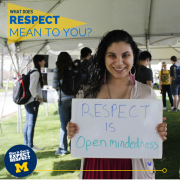 Respect is open-mindedness.